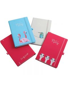 Designer A5 Casebound Notebook With Elastic Strap
