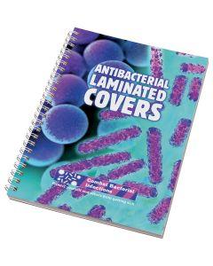 A5 Anti-Bac Laminated Wiro-bound Notebook