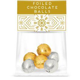 Eco Info Card - Foiled Chocolate Balls