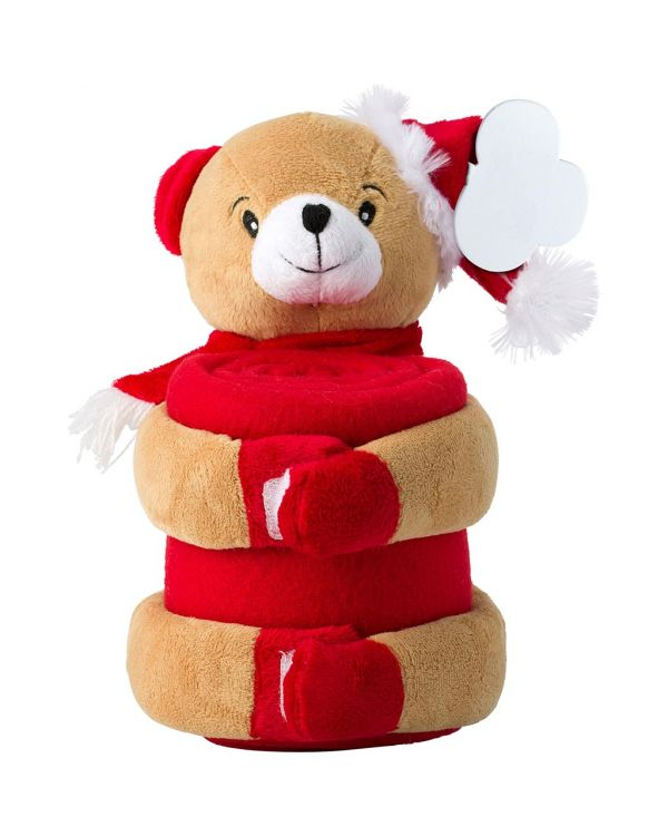 Christmas Plush Animal With Blanket