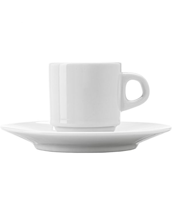 Stackable Porcelain Cup And Saucer (90Ml)