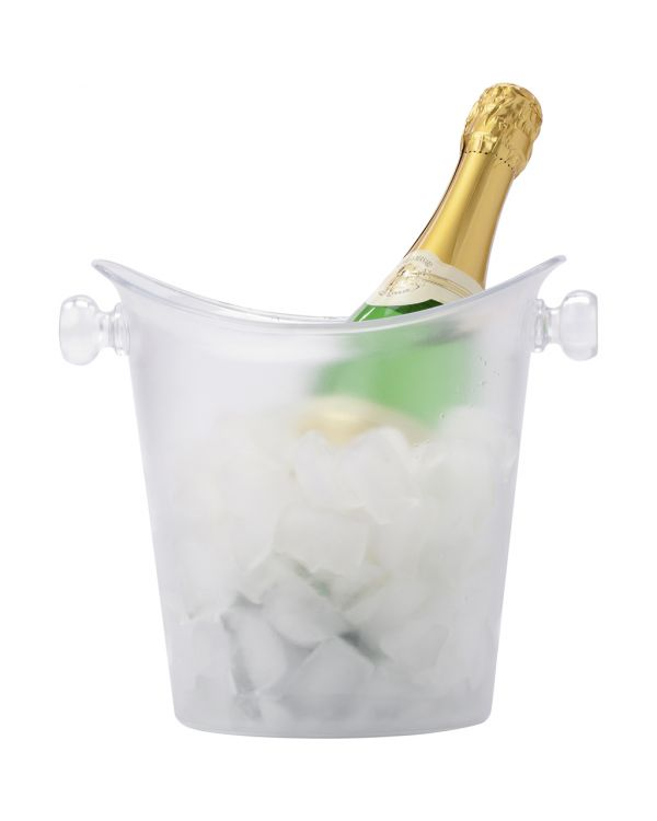 Frosted Plastic Cooler/Ice Bucket