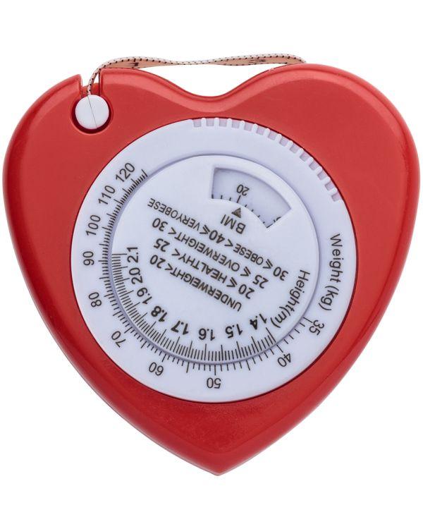 Plastic, 1.5M, Heart Shaped, Bmi Tape Measure