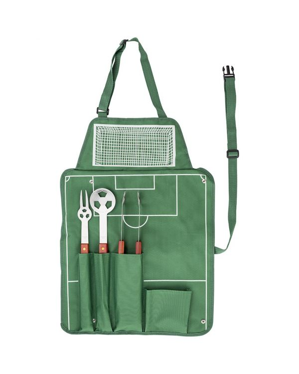 Four-Piece Football Barbecue Set
