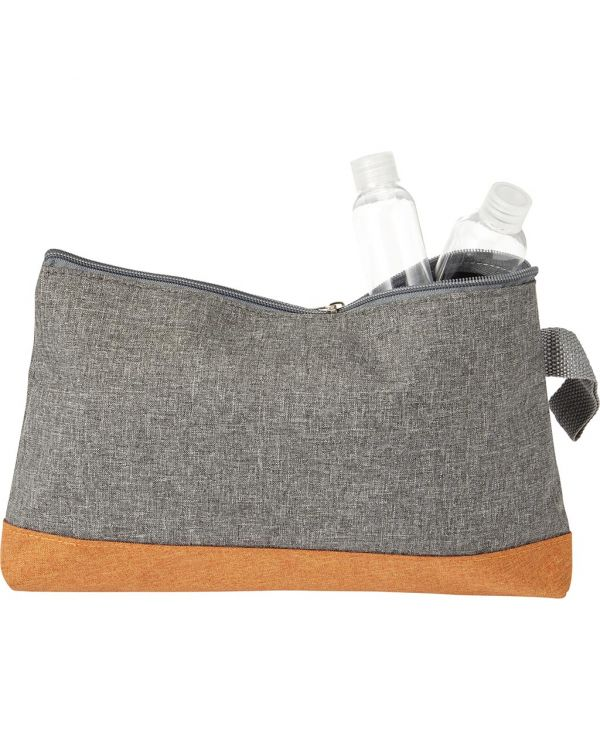 Poly Canvas Toiletbag, With Zipper.