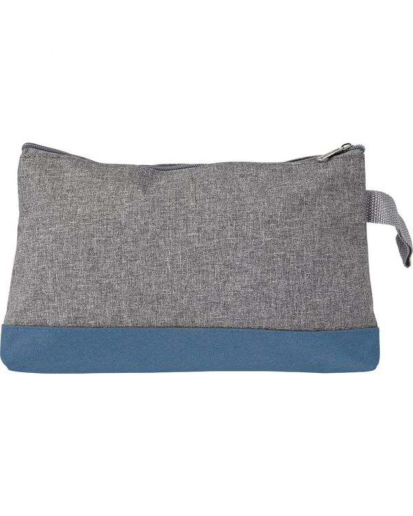 Poly Canvas Toilet Bag, With Zipper