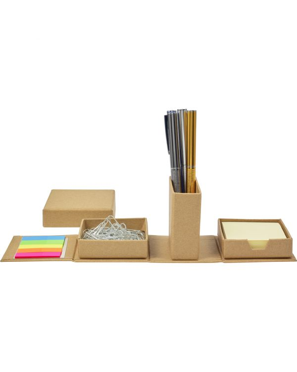 Cardboard Cube Desk Organizer