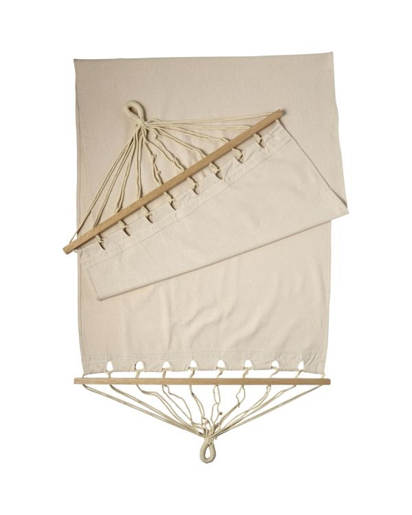 Polyester Canvas Hammock With Wooden Rims