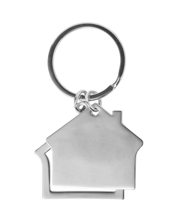Zinc Alloy House Keychain