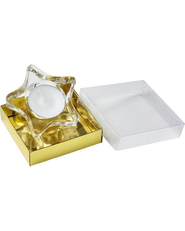 Star Shaped Glass Tea Light Holder