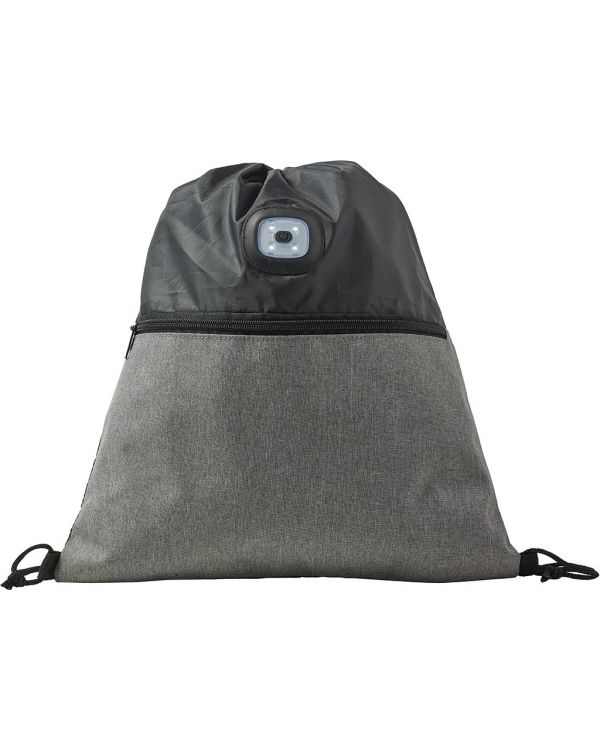 Polyester Drawstring Backpack With COB Light