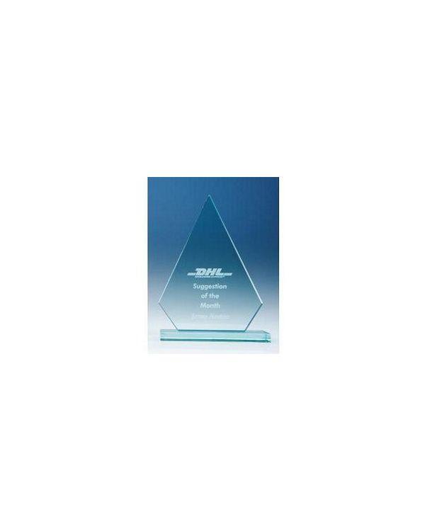 17.5cm x 13.5 cm Peak, 12mm Jade Glass