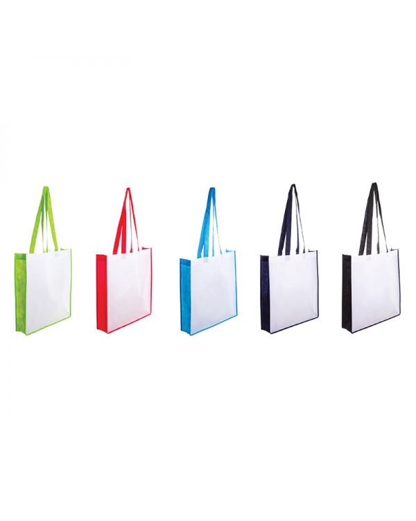 Non-Woven Bag With Coloured Gusset