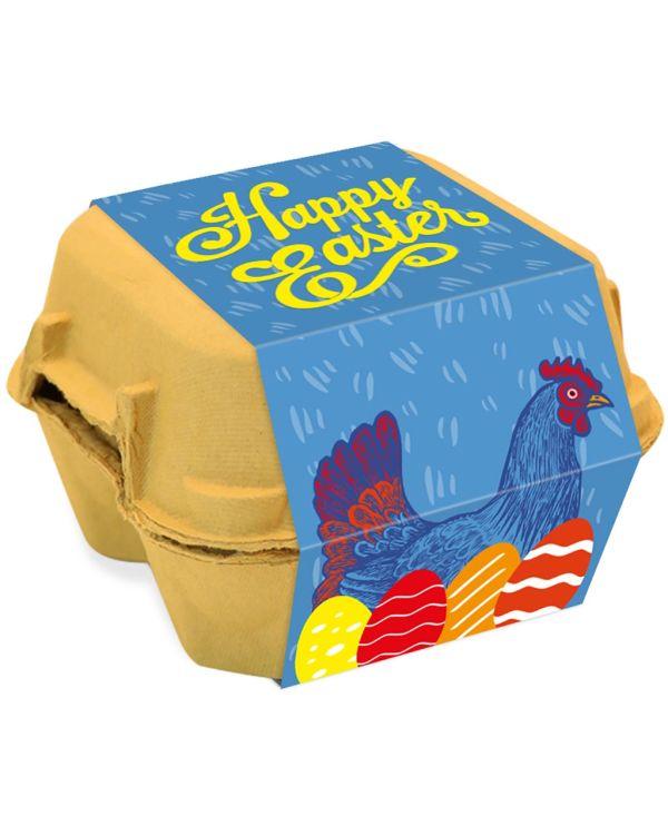 Egg Box - Gold foiled egg - x4