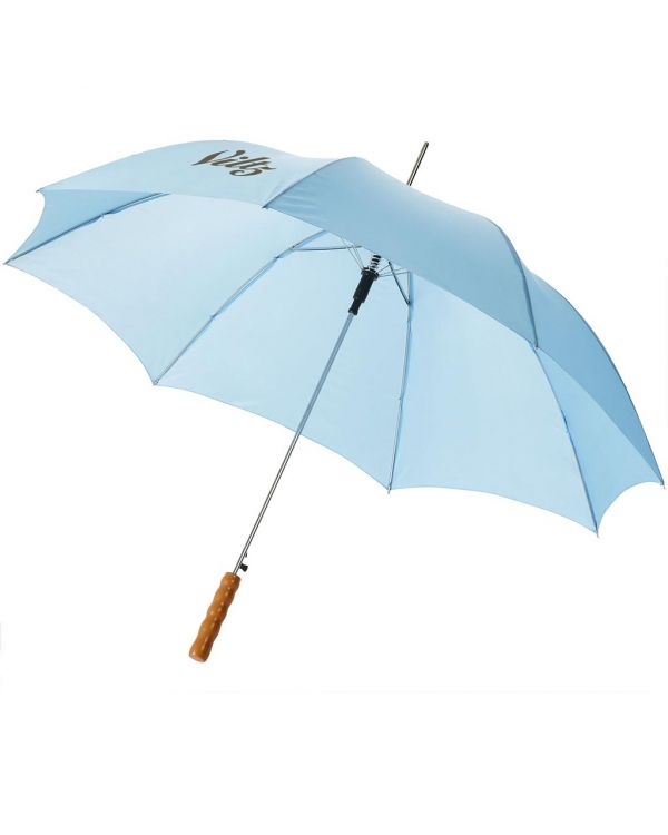 Lisa 23 Inch Auto Open Umbrella With Wooden Handle