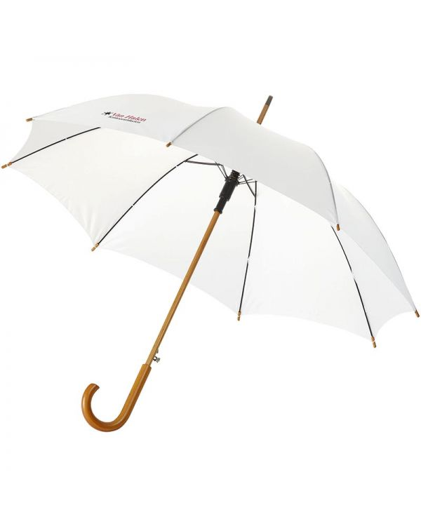 Kyle 23 Inch Auto Open Umbrella Wooden Shaft And Handle