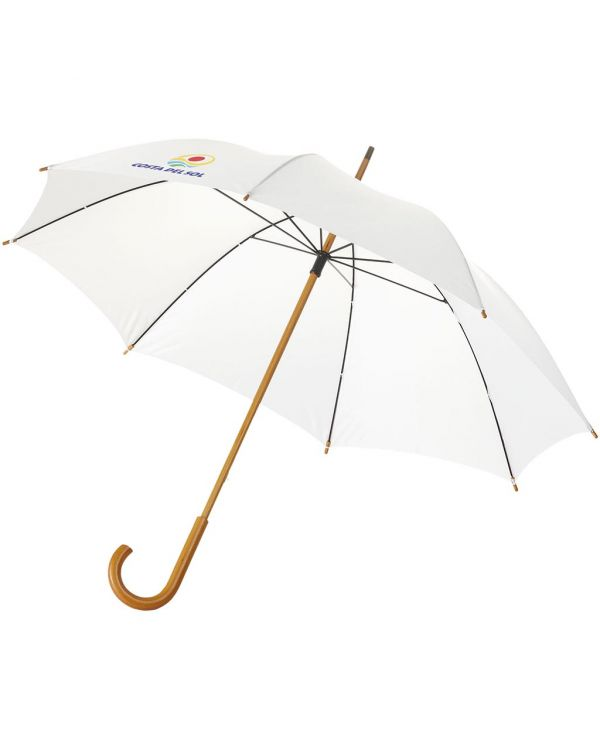 Jova 23 Inch Umbrella With Wooden Shaft And Handle
