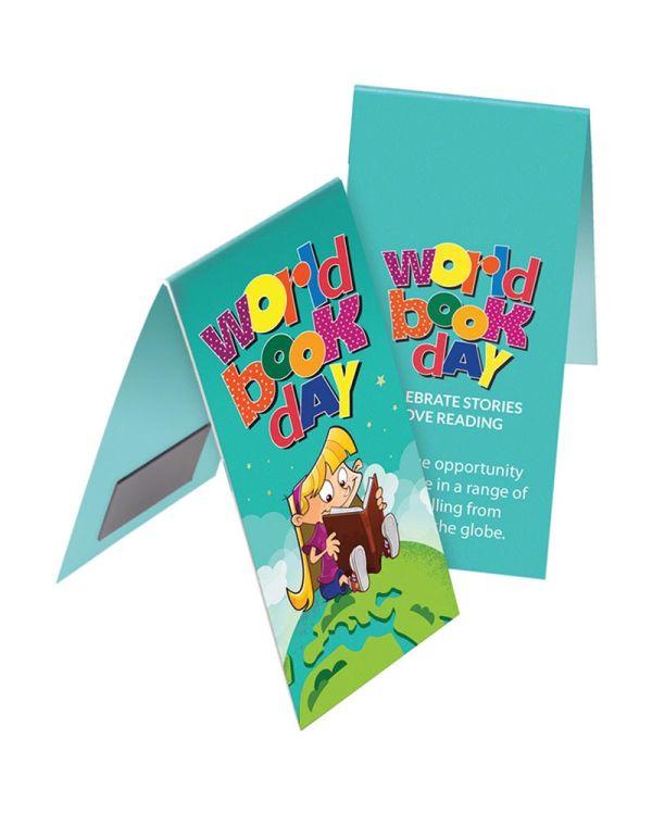 Shaped Folding Magnetic Bookmark