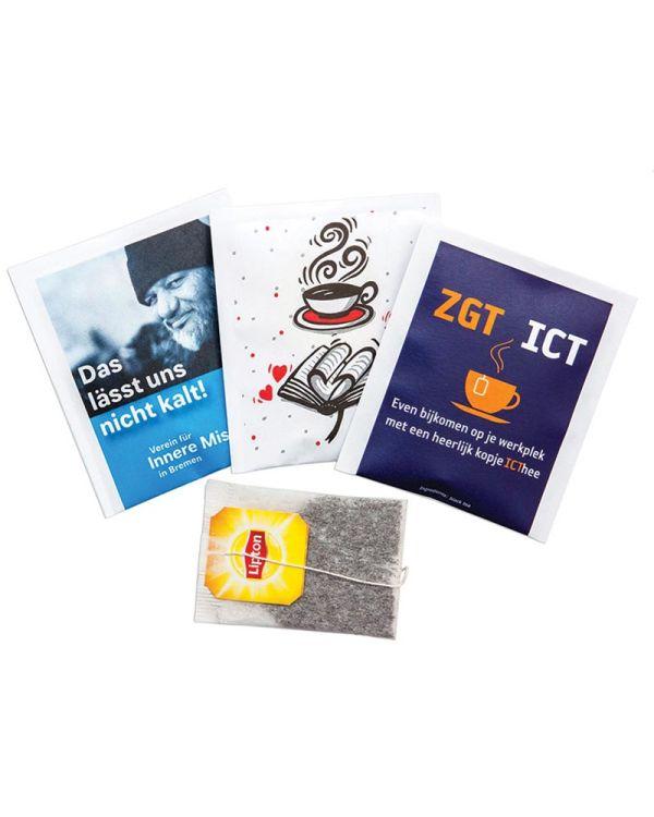 Tea Bags In Printed Paper Sachet Lipton Yellow Label