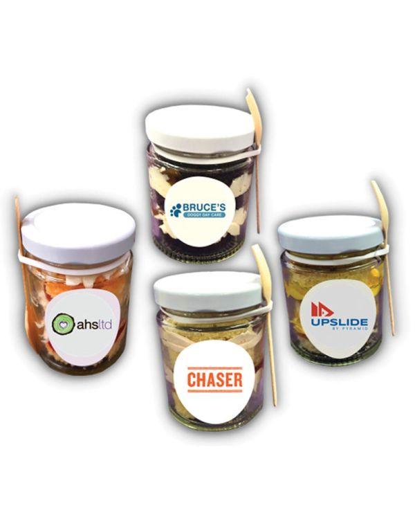 Logo Branded Cake Jar