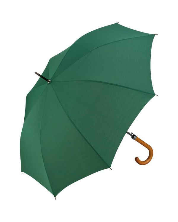 FARE AC Regular Umbrella With Burned Wooden Crook Handle
