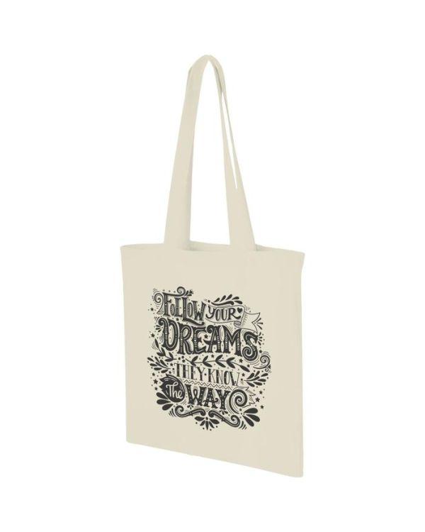 Carolina 100 g/sq m Cotton Tote Bag