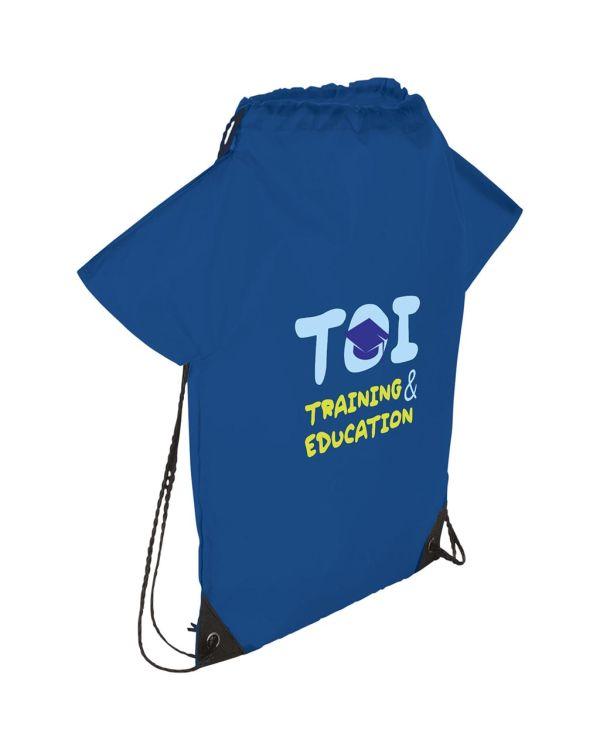 Cheer T-Shirt-Shaped Drawstring Backpack