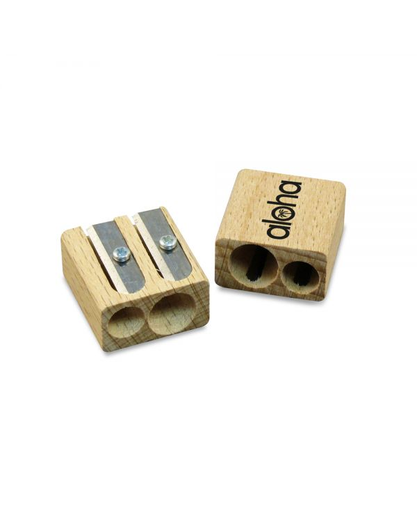 Green & Good Double Pencil Sharpener - Sustainable Timber