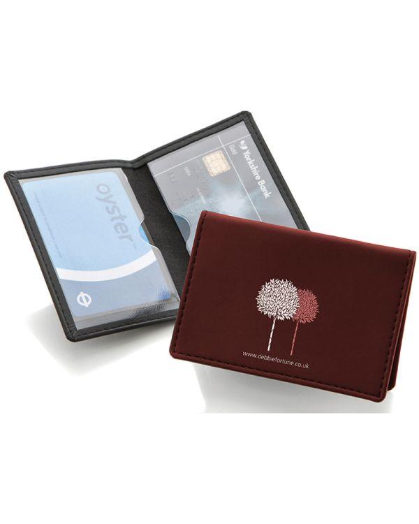 Belluno Leatherette Credit or Travel Card Case