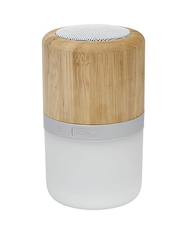 Aurea Bamboo Bluetooth Speaker With Light