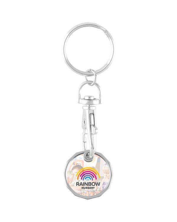 Full Colour Trolley Coin Keychain