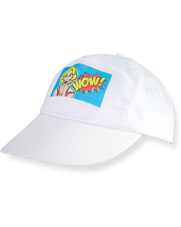 White Sublimation Baseball Cap