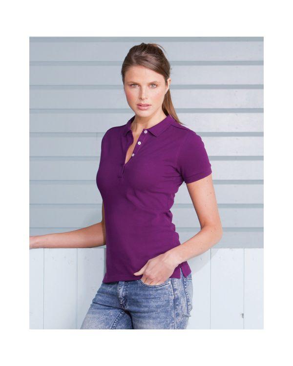 Ladies stretch polo shirt
