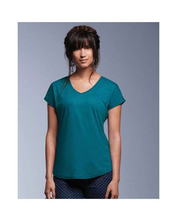 Womens Tri-Blend V Neck T Shirt