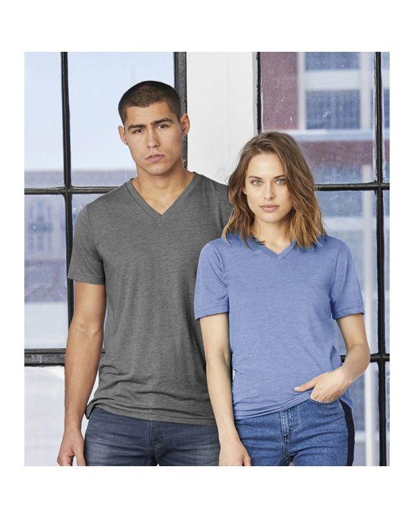 Unisex Tri-Blend V-Neck T Shirt