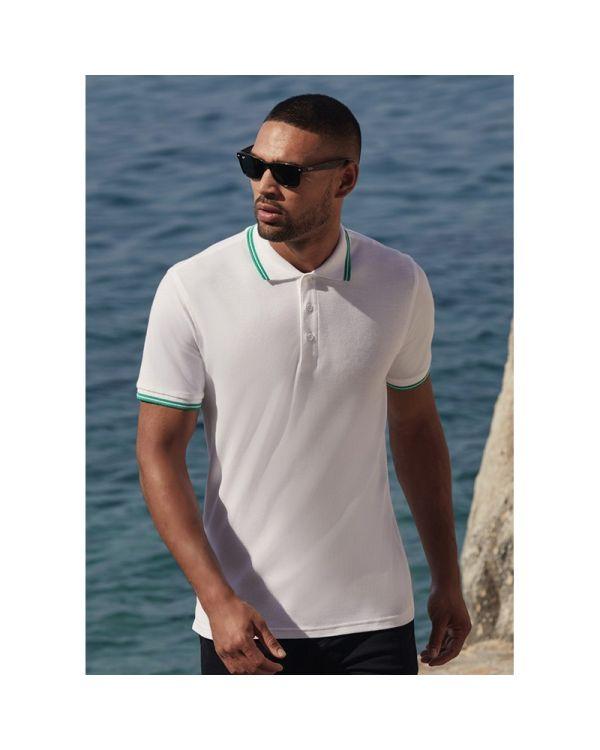 Mens Tipped Polo Shirt