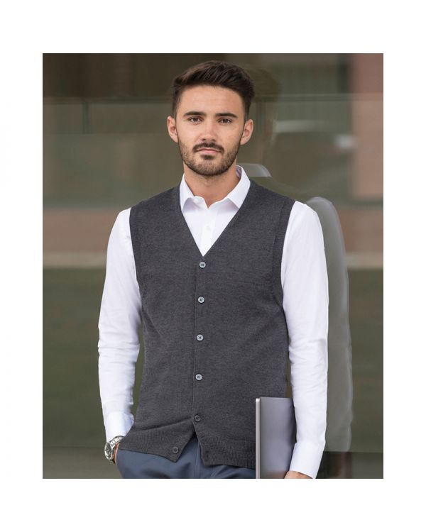 Sleeveless Knitted Gareth Cardigan