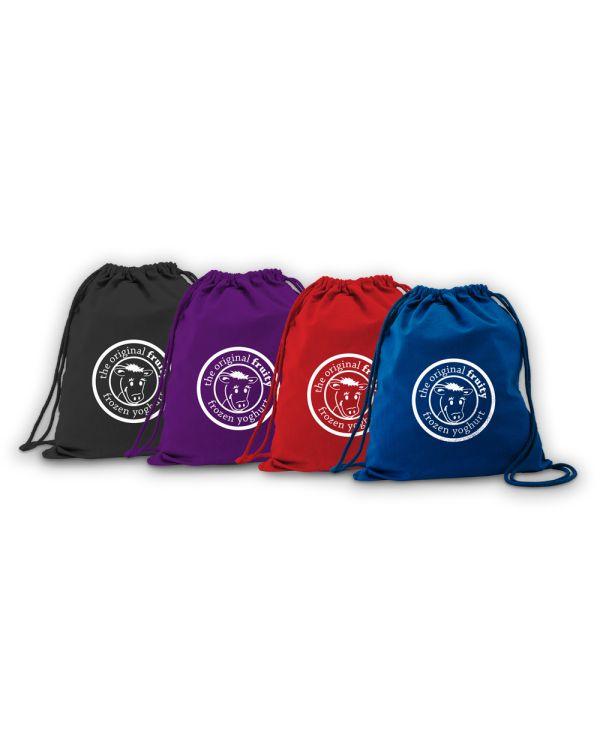 Green & Good Coloured Columbia Drawstring Backpack - Cotton 4oz