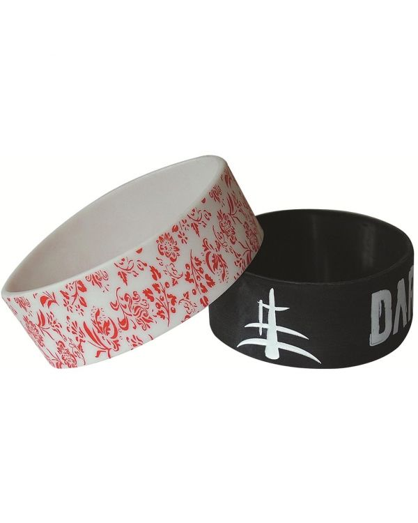 1 Inch Embossed Silicone Wristbands