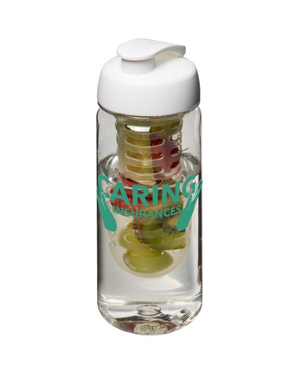 H2O Octave Tritan 600 ml Flip Lid Bottle & Infuser