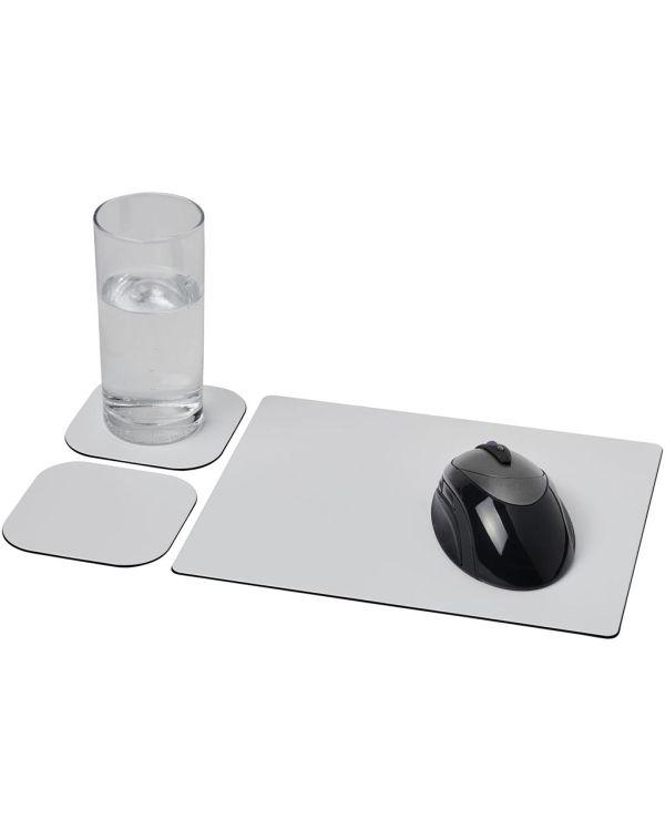 Brite-Mat Mouse Mat And Coaster Set Combo 3