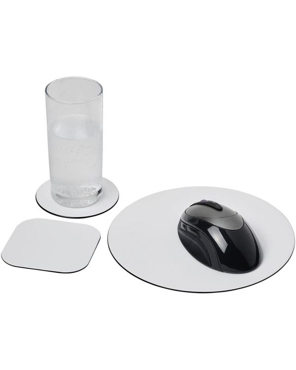 Brite-Mat Mouse Mat And Coaster Set Combo 4