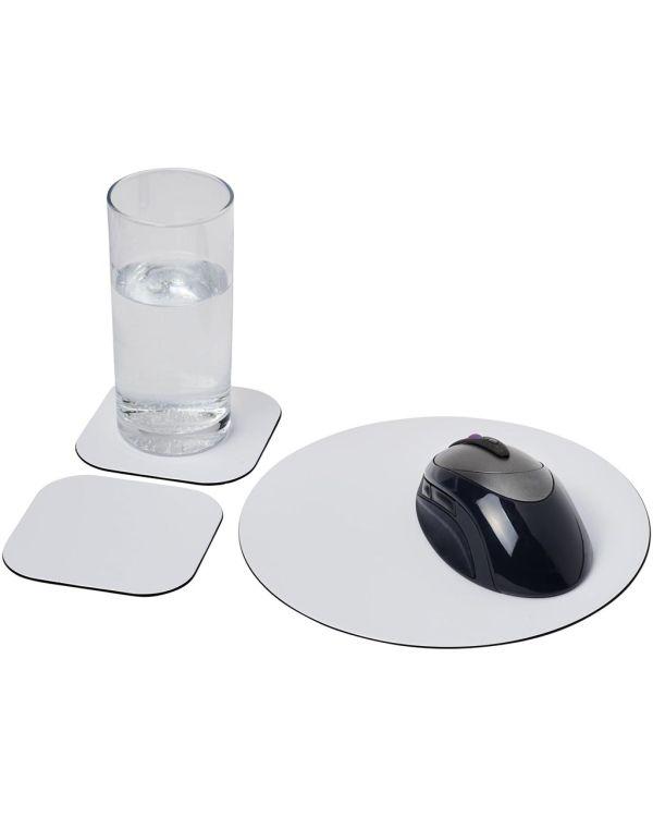 Brite-Mat Mouse Mat And Coaster Set Combo 6