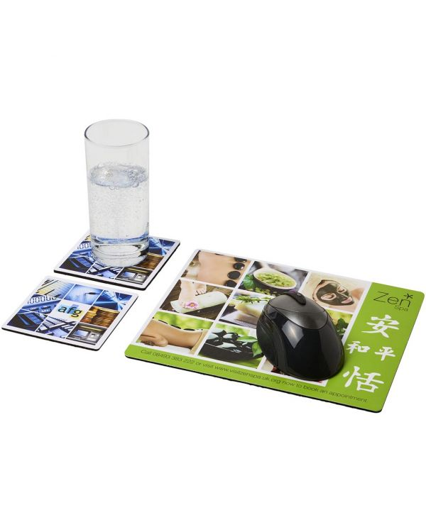 Q-Mat Mouse Mat And Coaster Set Combo 3