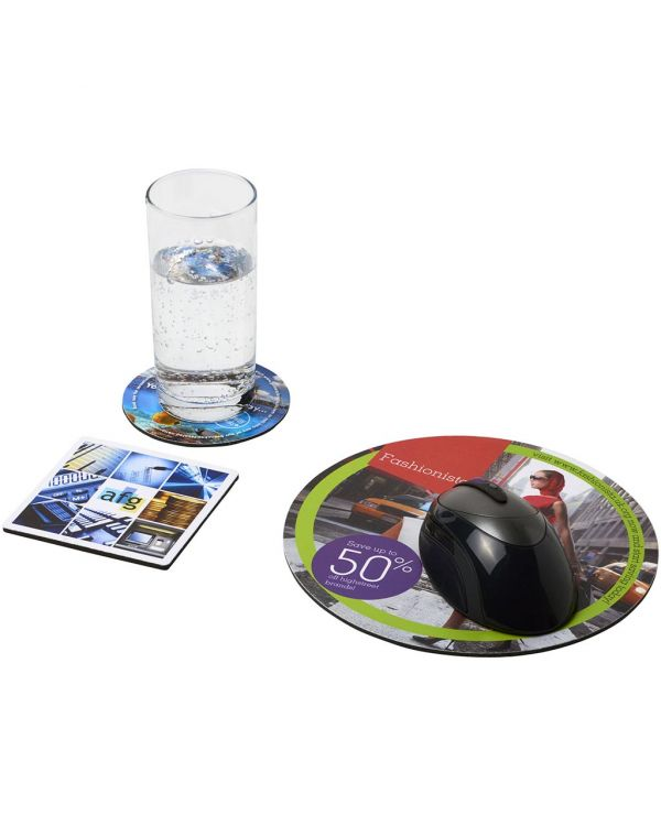 Q-Mat Mouse Mat And Coaster Set Combo 4