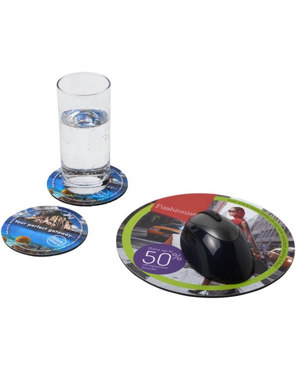 Q-Mat Mouse Mat And Coaster Set Combo 5