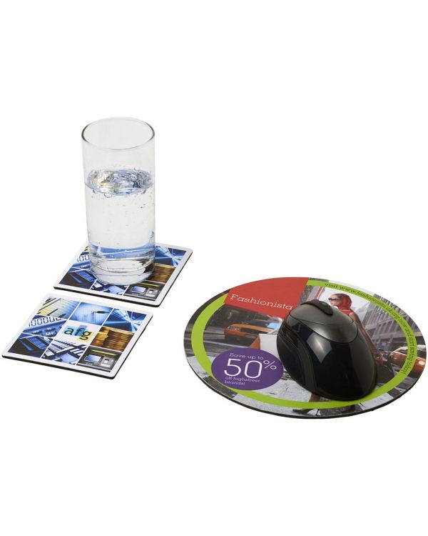 Q-Mat Mouse Mat And Coaster Set Combo 6