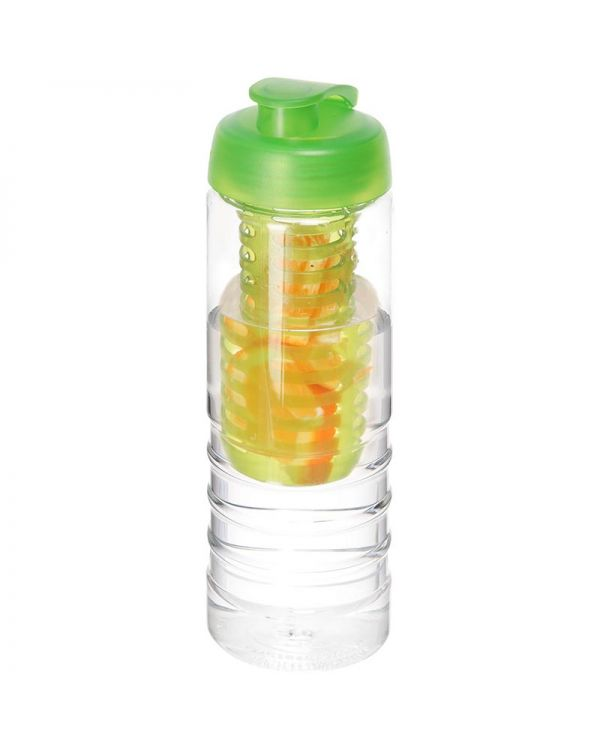 H2O Treble 750 ml Flip Lid Bottle & Infuser
