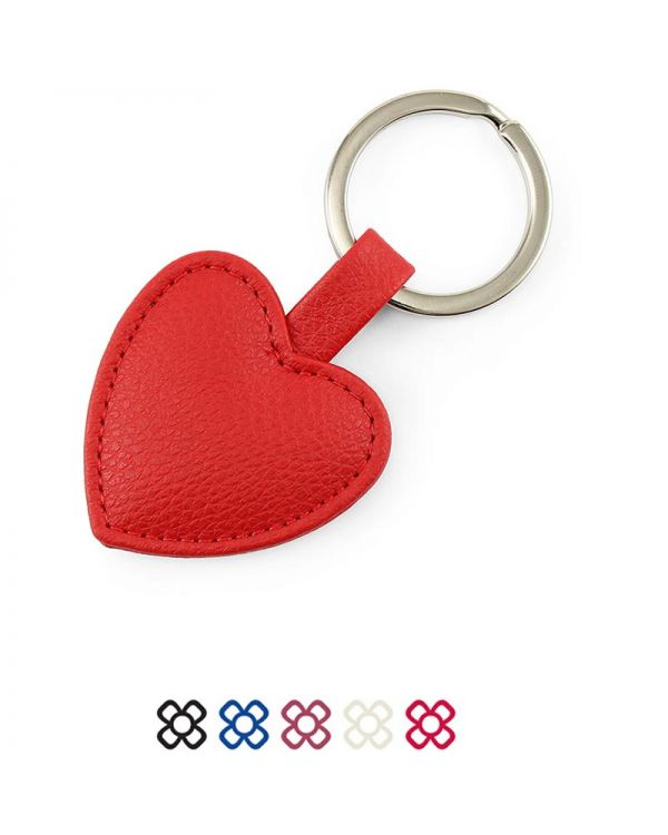 Heart Shaped Key Fob In Recycled Como