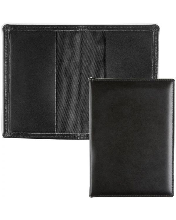 Recycled Leather Card Case with 2 Raw-cut Leather Pockets